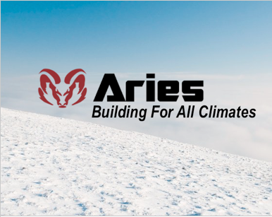 Aries: Building for All Climates logo in clouds