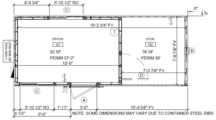 8�20 box glo floor plan