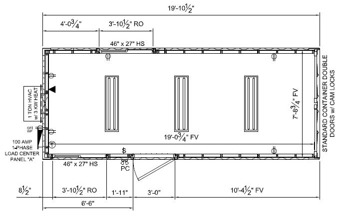 8�20 open glo floor plan
